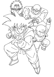 dragon ball z son goku and friends coloring pages for kids euv