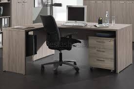 bureau complet ensemble de bureau contemporain coloris chêne espagnol placeno pas cher