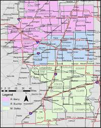 Illinois Map With Counties by More Counties And A New Map For Eastern Illinois Foodbank