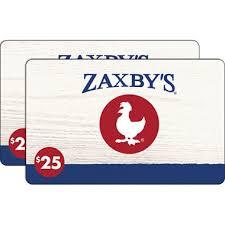 gift card zaxby s gift card 2 x 25 sam s club