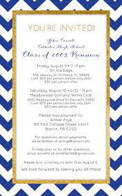 Invitation Card For Reunion Party John Carroll High Catholic High Private High
