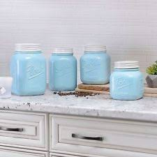 Kitchen Counter Canister Sets by Mason Jar Canister Set 4 Piece Kitchen Counter Storage Sugar Flour
