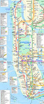 Nyc Mta Map Manhattan Subway Map With Streets Travel Maps And Major Tourist