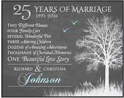25 wedding anniversary gift 25th anniversary etsy