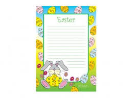 easter lined writing paper template ichild