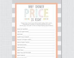 baby shower guessing the price is right baby shower guess the price baby