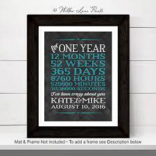 1 year anniversary gift 1 year anniversary gift for boyfriend personalized wall