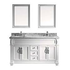 white double sink bathroom vanities bath the home depot
