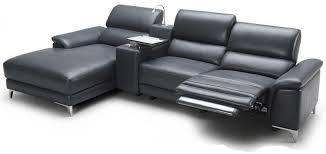 Gray Leather Sectional Sofa by Bedroomdiscounters Sectional Sofa Sets