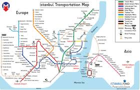 istanbul metro map transportation istanbul find