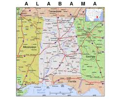 Map Of New Orleans Usa by Maps Of Alabama State Collection Of Detailed Maps Of Alabama
