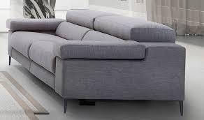 canapé gris 3 places canapé en tissu avec avec assise électrique relax
