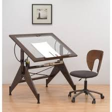 Drafting Table Prices Studio Designs Aries Glass Top Drafting Table Overstock