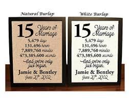 15th wedding anniversary gift 15 year anniversary etsy