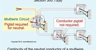 splicing neutral conductors electrical construction