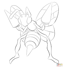 beedrill coloring page free printable coloring pages