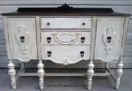 antique white buffet table hutches cabinets buffets painted glazed distressed antique