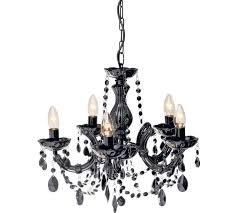 Black Chandelier Lamps Buy Collection Inspire 5 Light Chandelier Black At Argos Co Uk