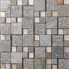 Stone Mosaic Tile Kitchen Backsplash by Square Glass Mixed Stone Mosaic Tiles For Kitchen Backsplash Tile