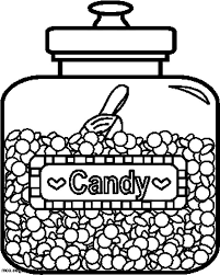 delicious candy jar coloring pages bulk color