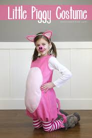 little pig costume with ears and snout make it and love it