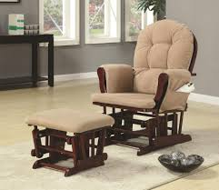 coaster chenille glider and ottoman in chocolate rockers and gliders furniture max