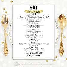 customizable menu templates 20 dessert menu templates free sle exle format