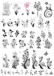 decoration with ornaments floral vector graphics vector floral