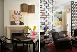 Art Deco Living Room by Nice Retro Art Deco Living Room With Black Sofa And Red Rug Also