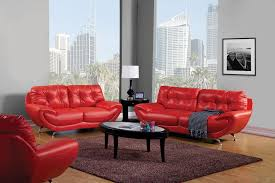 Red And Black Living Room Set Home Design Ideas - Red leather living room set
