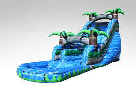 18 ft blue crush water slide ez inflatables