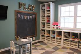 playroom chalkboard marquee letters ikea kallax shelves toy
