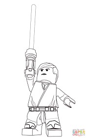 lego star wars luke skywalker coloring page free printable
