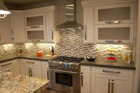 kitchen counters and backsplashes kitchen granite backsplash white oak cabinets with brown granite