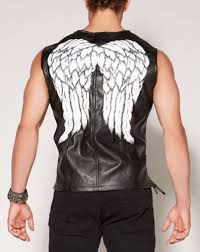 Dead Biker Halloween Costume Daryl Dixon Angel Wings Biker Vest Walking Dead Costume