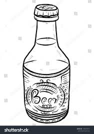 beer cartoon black and white beer bottle cartoon vector illustration black stock vector