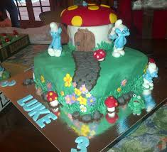 beau bella creations smurf house cake and cupcakes