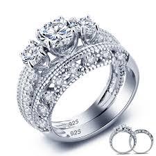 vintage rings aliexpress images Wholesale wedding rings vintage style victorian art deco 1 5 ct jpg