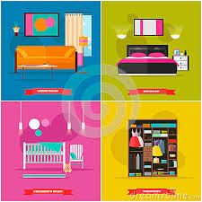 home interior vector home interior vector illustration in flat style house design with