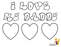 i love you daddy coloring pages i miss you daddy coloring pages