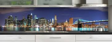 credence cuisine en verre sur mesure crédence de cuisine york de nuit version couleur c