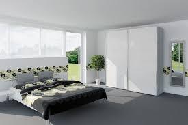 White Gloss Bedroom Wardrobes Yasmin Sliding Wardrobe 203cm White High Gloss Mirror Harvey