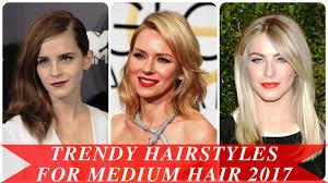 medium length trendy hairstyles trendy hairstyles for medium hair 2017 youtube