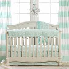 mint woodland crib bedding bumperless liz and roo