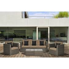Atlantic Outdoor Furniture by Atlantic Furniture Camaro 5 Piece Wicker Patio Conversation