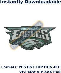 philadelphia eagles logo machine embroidery design