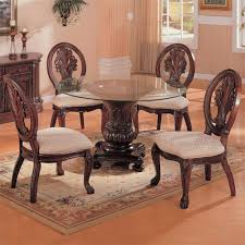 Glass Top Pedestal Dining Room Tables by Amazon Com Coaster Home Furnishings 101030 Traditional Dining