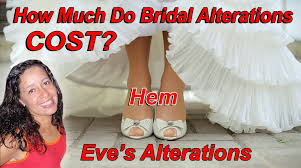 the wedding dress hem alterations cost eve u0027s alterations