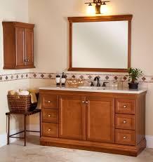Wooden Bathroom Wall Cabinets Charming Bathroom Wall Cabinets Cherry Wood With Shaker Style Door