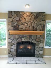 bucks county dressed fieldstone by boral cultured stone with wood